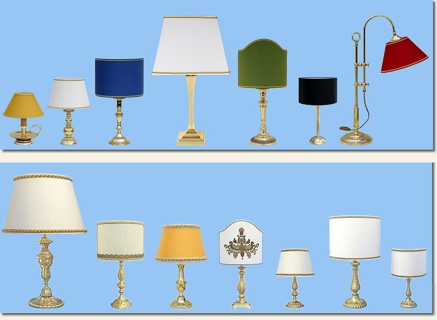 brass table lamps made in Italy