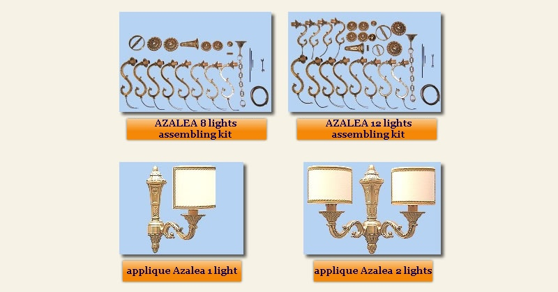 ceiling lamps kit and appliques