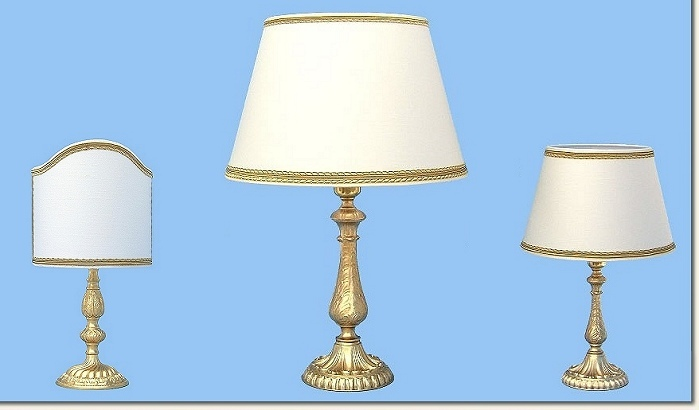 Classic bedside table lamps and Trittico