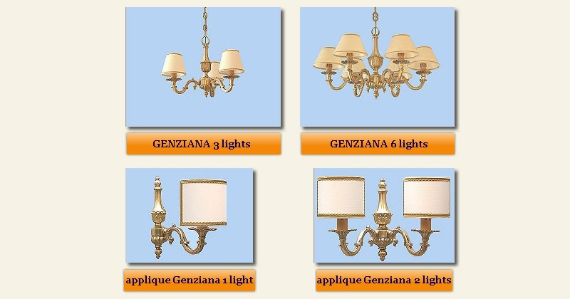 classic ceiling lamps Genziana collection