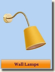 Modern brass wall lamps