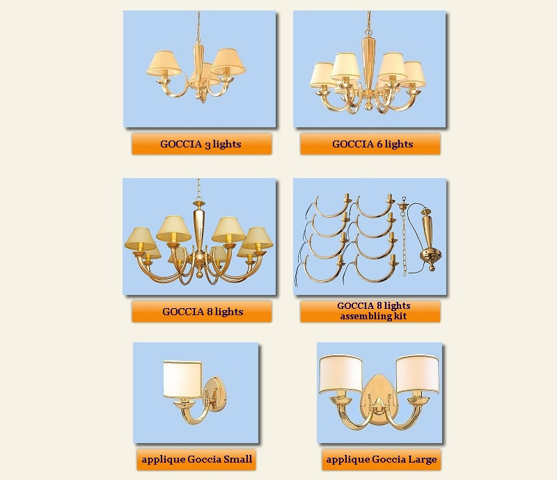 modern chandeliers and appliques Goccia collection