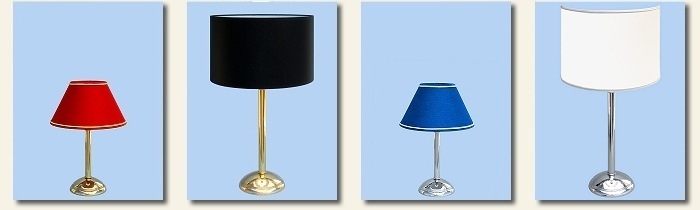modern table lamps polished and chromed