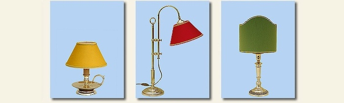 reading brass lamps
